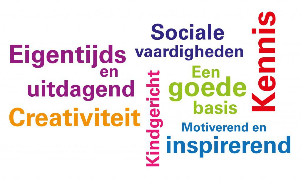 eigentijds, uitdagend,, creativiteit, kindgericht, sociale vaardigheden, kennis